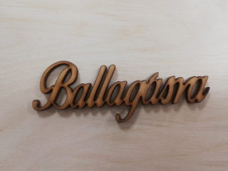 "Výrez ""Ballagasra"" cca 95 x 35 mm"