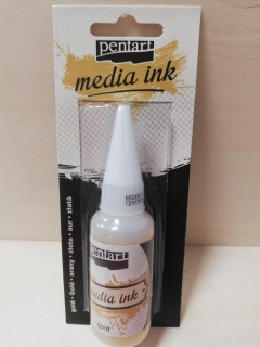 Media ink 20ml - zlatá