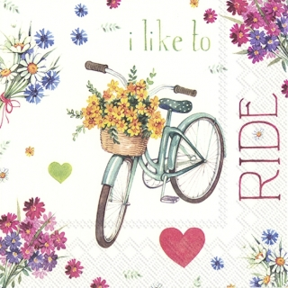 Servítka 33 x 33 cm I love my bike